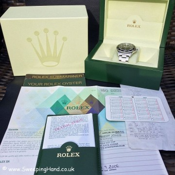 Rolex 14060M Submariner Box & Papers