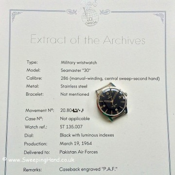 Military Omega Seamaster 30 PAF -5
