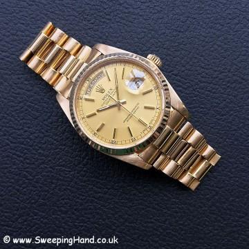 18k Gold Rolex Day Date 18038 1