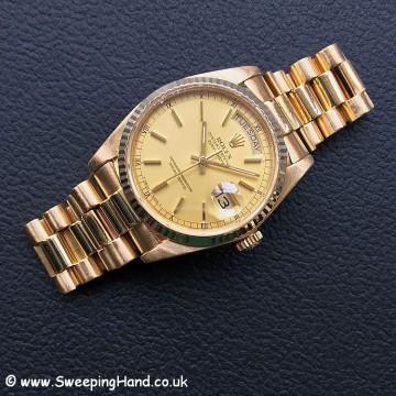 18k Gold Rolex Day Date 18038 2