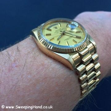 18k Gold Rolex Day Date 18038 - 20