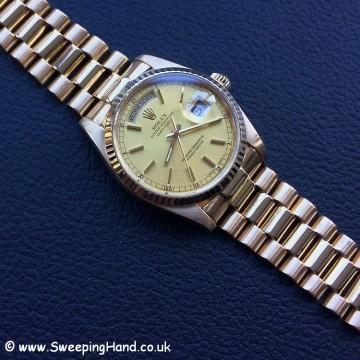 18k Gold Rolex Day Date 18038 - 21