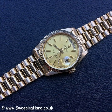 18k Gold Rolex Day Date 18038 - 22