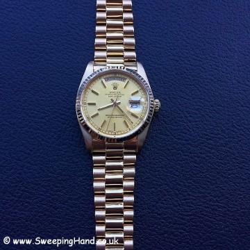 18k Gold Rolex Day Date 18038 - 23