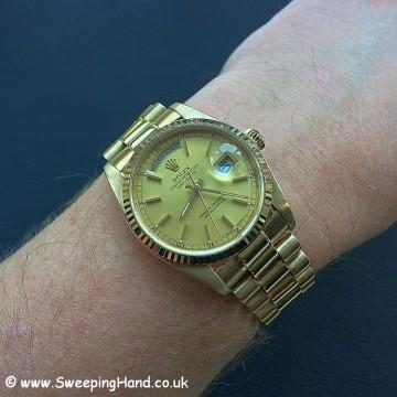 18k Gold Rolex Day Date 18038 - 25