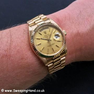 18k Gold Rolex Day Date