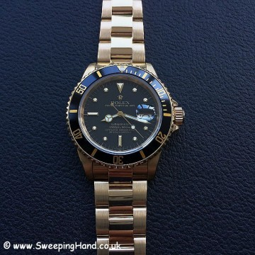 Rolex 18k Gold Submariner 16808 - 3