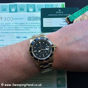 Rolex 18k Gold Submariner 16808 - 5