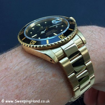 Rolex 18k Gold Submariner 16808 - 7