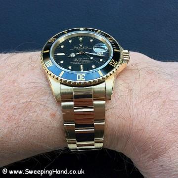 18k Solid Gold Rolex Submariner