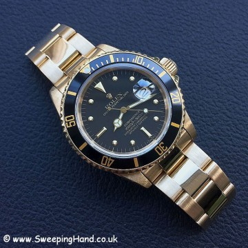 Rolex 18k Gold Submariner 16808 - 9
