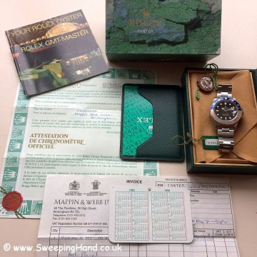 1995 Rolex GMT Master Full Set