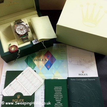Rolex Daytona 116520 White Dial Collector Set