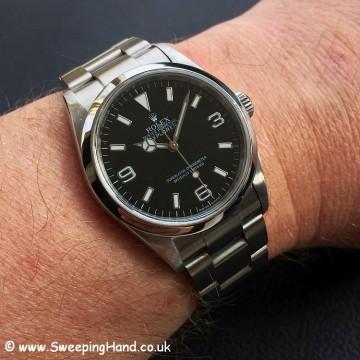 Rolex Explorer 114270 wristshot
