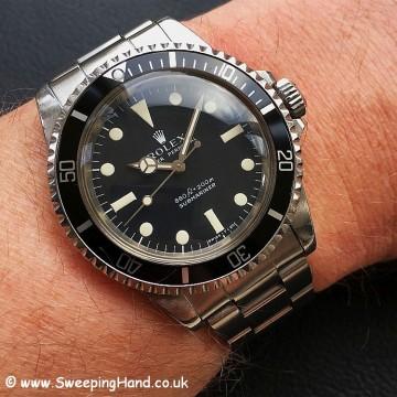 Rolex 5513 Matte Dial Wristshot