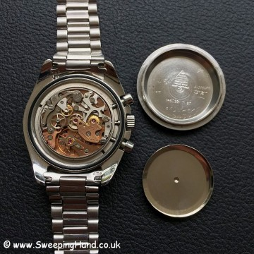 Omega speedmaster caseback and movement