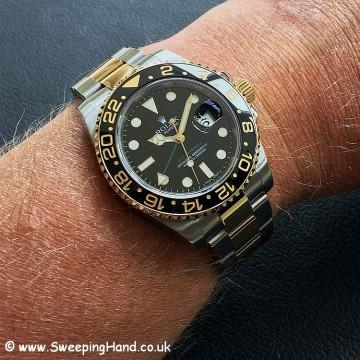 Rolex 116713LN GMT Master 2 Wristshot