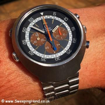 Omega Flightmaster tropical dial