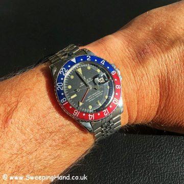 1967 Rolex 1675 mk1 long E wristshot 2