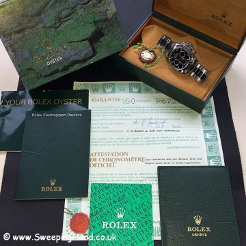 Rolex Daytona 116520 P Series Box Papers