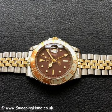 Rolex 1675-3 GMT Master Root Beer Nipple Dial