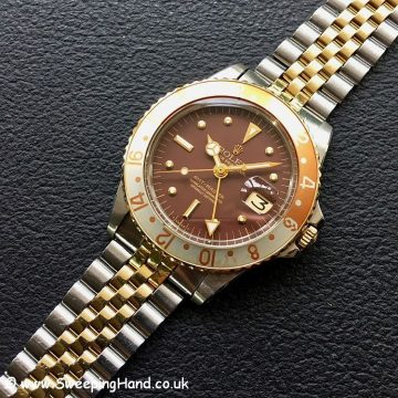 Rolex 1675 GMT Master Root Beer Nipple Dial