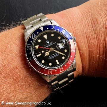 Rolex 16750 GMT Master wristshot
