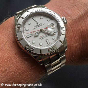 Rolex Yachtmaster 16622 Platinum Wristshot 2