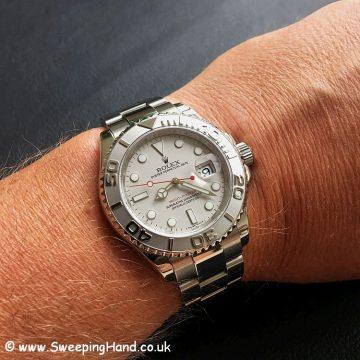 Rolex Yachtmaster 16622 Platinum Wristshot
