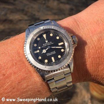 1968 Rolex 5513 Metres First wristshot