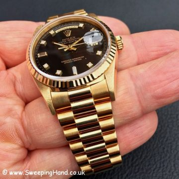 Rolex 18238 Day Date Diamond Dial 2