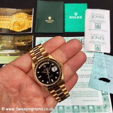 Rolex 18238 Day Date Diamond Dial 3