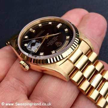 Rolex 18238 Day Date Diamond Dial 5