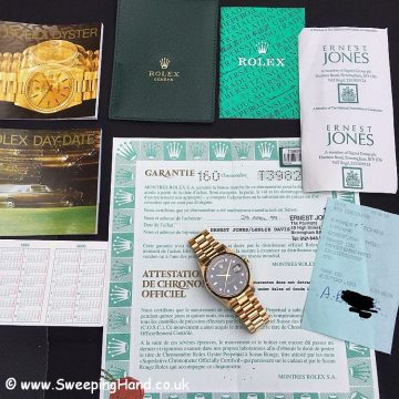 Rolex 18238 Day Date Diamond Dial 7