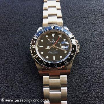 2007 Rolex GMT 16710 Master II Stick Dial