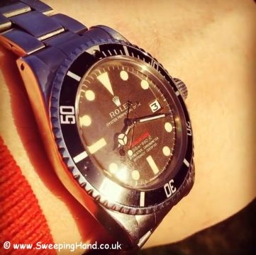 Tropical Rolex Red Submariner Metres First
