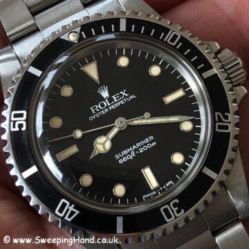 Rolex 5513 Submariner NOS dial