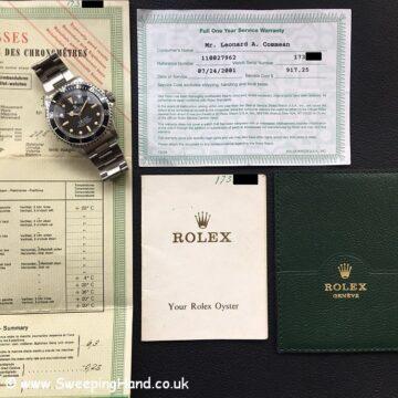 Rolex 5512 Submariner Meters First -4